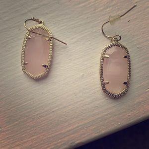 Small Oval Kendra Scott Earrings - LightPink&Gold